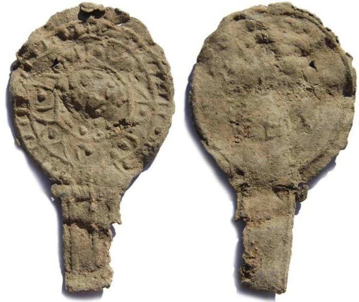 Ancient Coins - Ancient Roman Votive Lead Mirror 2-4th Century AD