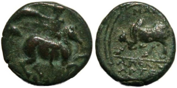 Ancient Coins - Scarce Ancient Greek coin from Magnesia, Ionia, circa 350-190 BC