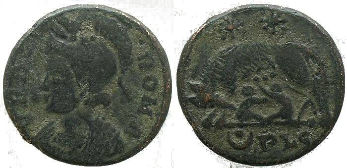 Ancient Coins - Urbs Roma commemorative - Lugdunum