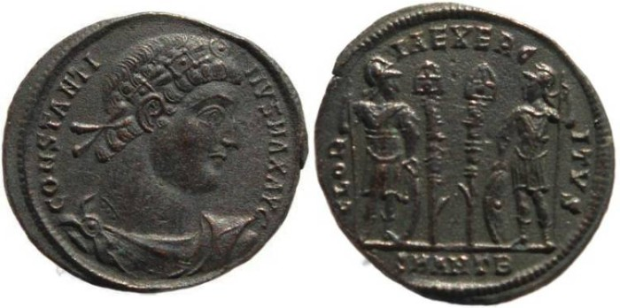 Ancient Coins - Constantine I - GLORIA EXERCITVS - Antioch Mint