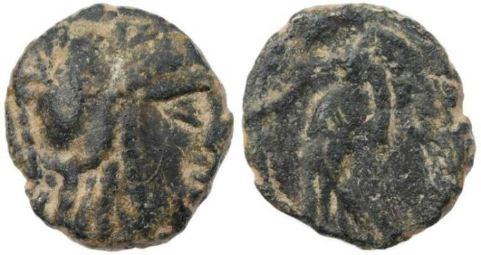 Ancient Coins - Ancient Nabatean coin of Aretas II 110-96BC