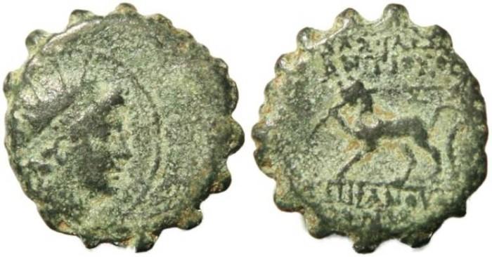Ancient Coins - Seleucid Kingdom - Antiochos VI 145-142BC - Panther
