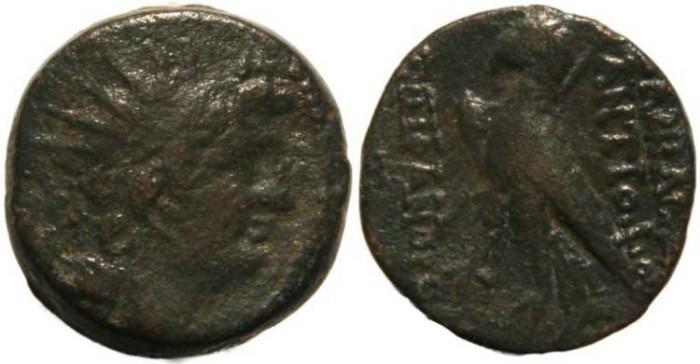 Ancient Coins - Seleucid Kingdom Antiochus VIII Grypos 121-96 BC