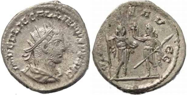 Ancient Coins - Gallienus Silvered Antoninianus - Gallineus & Valerian reverse