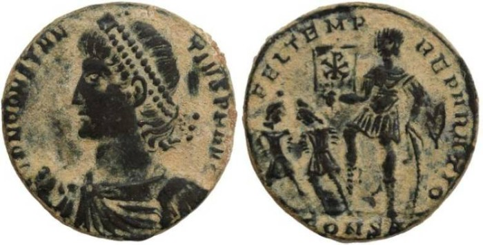 Ancient Coins - Constantius II - FEL TEMP REPARATIO - nice example