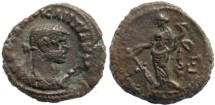 Ancient Coins - Roman Egypt - Diocletian and Tyche - Year 3