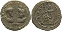 Ancient Coins - Superb Roman Provincial coin of Gordian III & Serapis - Dionisopolis