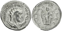 Ancient Coins - Philip I 'the Arab' silver antoninianus - FIDES MILIT