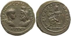 Ancient Coins - Superb Roman Provincial coin of Gordian III & Serapis - Dionisopolis