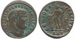 Ancient Coins - Roman coin of Galerius Ae follis - GENIO EXERCITVS - Antioch