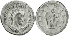 Ancient Coins - Philip I 'the Arab' silver antoninianus - FIDES MILIT