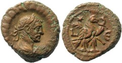 Ancient Coins - Diocletian Potin Tetradrachm minted in Alexandria, Egypt - Year 5