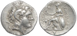 Ancient Coins - Ancient coin of Lysimachus AR silver tetradrachm - King of Thrace