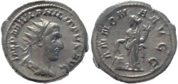 Ancient Coins - Philip I silver antoninianus - ANNONA AVGG