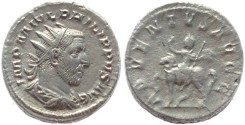 Ancient Coins - Philip I AR Silver antoninianus - ADVENTVS AVGG