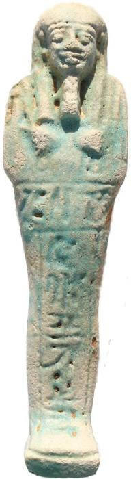 Ancient Coins - Beautiful Ancient Egyptian Faience Ushabti - Late Period 27th Dynasty - Perfect condition