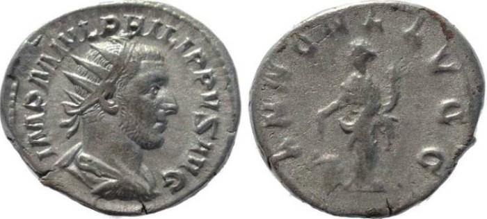 Ancient Coins - Philip I 'the Arab' silver antoninianus - ANNONA AVGG