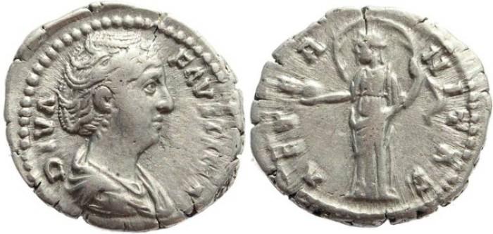 Ancient Coins - Faustina I AR silver denarius - AETERNITAS