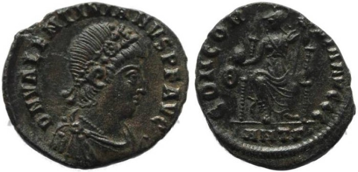 Ancient Coins - Valentinian II 375-392AD - CONCORDIA AVGGG - Antioch