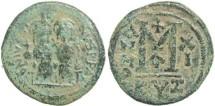 Ancient Coins - Byzantine Empire - Justin II & Sophia AE follis - Cyzicus- Year XI