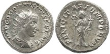 Ancient Coins - Roman Empire Gordian III AR double denarius