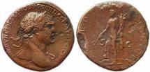 Ancient Coins - Roman coin of Trajan AE sestertius - SPQR OPTIMO PRINCIPI S-C
