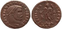 Ancient Coins - Roman coin of Maximinus II Ae follis - Alexandria Mint