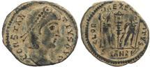 Ancient Coins - Roman coin of Constantius II as Augustus - GLORIA EXERCITVS - Antioch