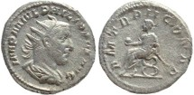 Ancient Coins - Philip I AR silver antoninianus - PM TR P II COS PP