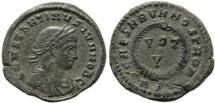 Ancient Coins - Constantine II silvered Follis - CAESARVM NOSTRORVM - Rome Mint