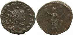 Ancient Coins - Roman Britain - Victorinus 268-270AD - PAX AVG