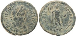 Ancient Coins - Ancient Roman coin of Theodosius I - GLORIA ROMANORVM - Antioch