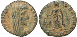 Ancient Coins - Scarce Roman coin of Constantine I struck by Constantius II - IVST VEN MEM - Antioch