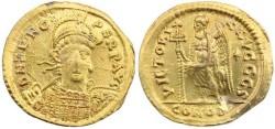 Ancient Coins - Zeno Gold Solidus - Constantinople
