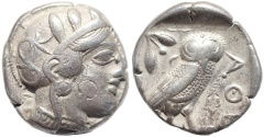 Ancient Coins - Attica, Athens AR silver Tetradrachm - Athena and Owl