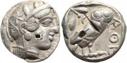 Ancient Coins - Athenian silver tetradrachm circa 449-431BC