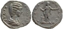 Ancient Coins - Julia Domna AR silver denarius - PIETAS PVBLICA