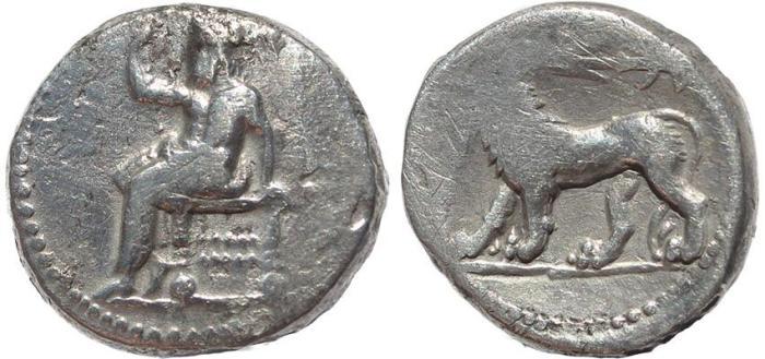 Ancient Coins - Seleukos I Nikator AR Double Shekel - Babylon mint - 311-305 BC.