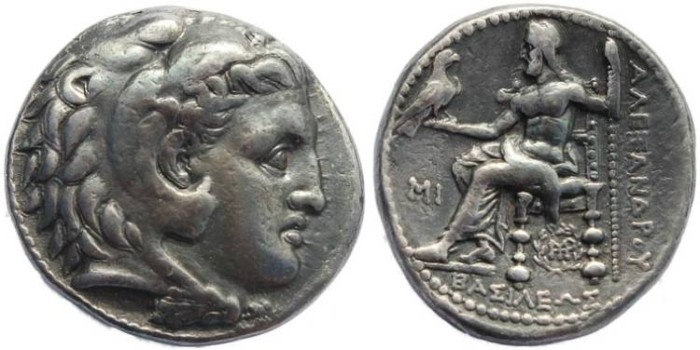 Ancient Coins - SELEUKID KINGS of SYRIA Seleukos I Nikator 312-281 BC AR Tetradrachm - Babylon mint