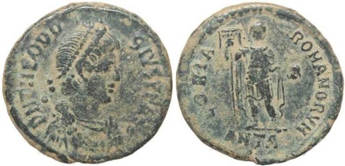 Ancient Coins - Ancient Roman coin of Theodosius I - GLORIA ROMANORVM - Antioch