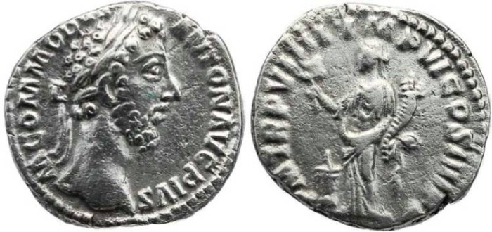 Ancient Coins - Commodus 177-192AD AR silver denarius