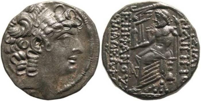 Ancient Coins - Philip I Philadelphos silver Tetradrachm, 95 - 83BC