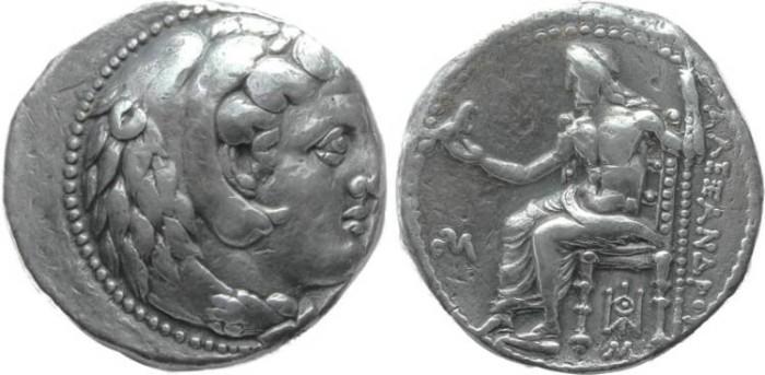 Ancient Coins - Macedonian Kingdom, Alexander III the Great, AR Tetradrachm, 325-323 BC, Babylon - Price 3660