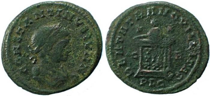 Ancient Coins - Constantine II as Caesar, BEATA TRANQVILLITAS - Lugdunum Mint