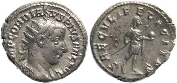 Ancient Coins - Gordian III 238-244AD Antoninianus - SAECVLI FELICITAS VF+