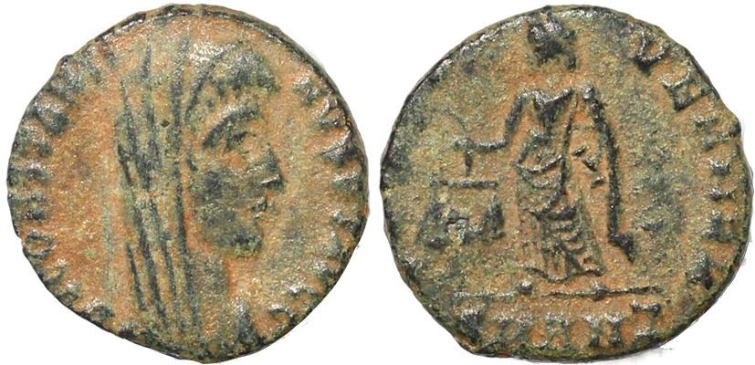 Ancient Coins - Scarce Roman coin of Constantine I struck by Constantius II - IVST VEN MEM - Antioch