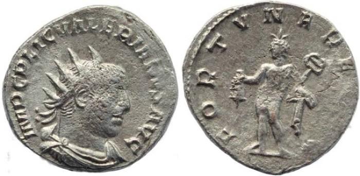 Ancient Coins - Valerian I AR Antoninianus - FORTVNA REDVX - Scarce