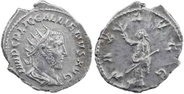 Ancient Coins - Gallienus AR antoninianus 266-267 AD - Super portrait