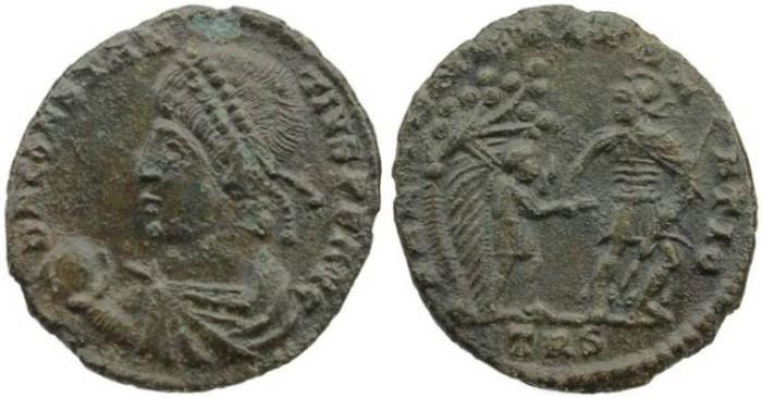 Ancient Coins - Constantius II AE2 - FEL TEMP REPARATIO - Treveri