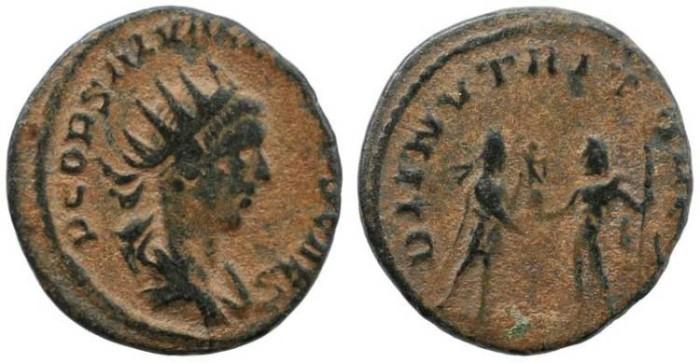 Ancient Coins - Roman Empire - Saloninus Antoninianus -  DII NVTRITORES
